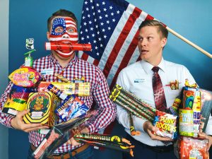 Blake and Kyle are crazy about fireworks!